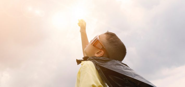 Junge Superheld